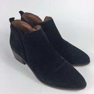 Franco Sarto Paivley leather suede ankle bootie. 6